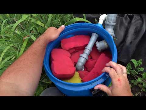 Фильтр для пруда своими руками устройство