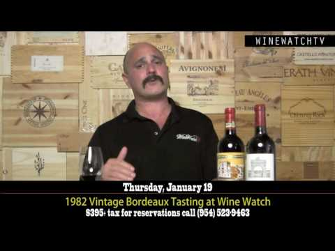 1982 Vintage Bordeaux Tasting at Wine Watch - click image for video