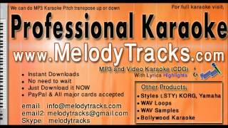 aankhon ke sagar - shafqat amanat karaoke - www.MelodyTracks.com