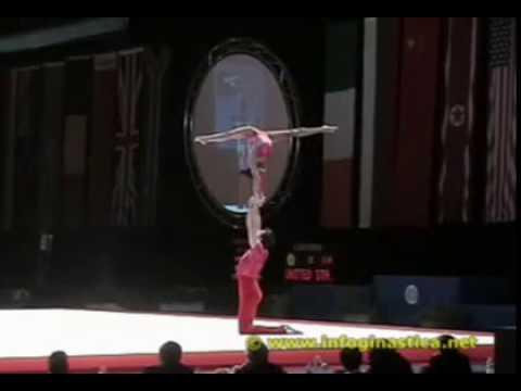 Shenea Booth & Arthur Davis Acrogymnastics World Champions 2004