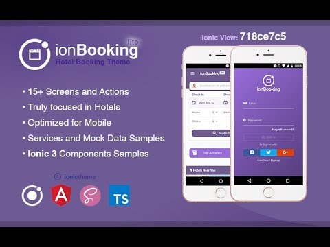 IonBooking Lite - Ionic 3 Hotel Booking Theme - YouTube