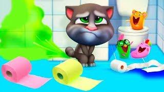 Мой Говорящий Том 2 Икающий котик мультик про котят на канале УШАСТИК КИДС