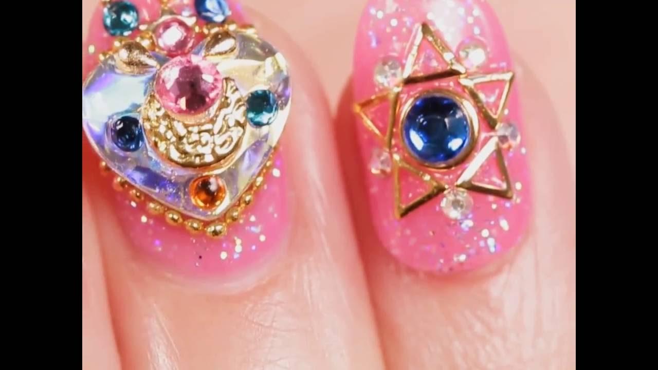 Info Sailor Moon Makeup Compact Nail Art
