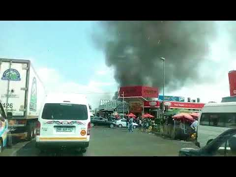 Building on fire in Polokwane CBD