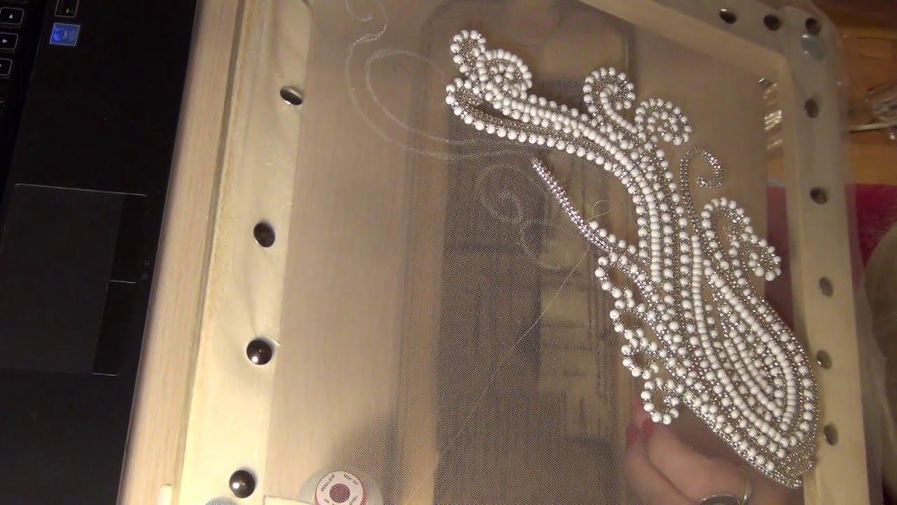Вышивка люневильским крючком - YouTube