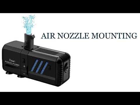Zision 500L/H Aquarium Pump With Filter And Air Nozzle