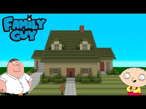 """Minecraft Tutorial: How To Make The """"Family Guy"""" House (Survival House)"""
