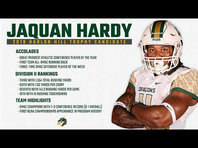JaQuan Hardy, Tiffin -  2019 Harlon Hill Trophy Candidate
