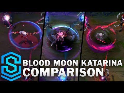 Blood Moon Katarina VS All Previous Skins | Skin Comparison