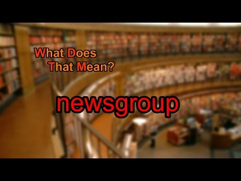 What does newsgroup mean?