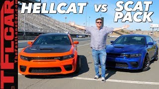 2020 Dodge Charger Hellcat Widebody vs Scat Pack Widebody - You'll Be Surprised Which One We'd Buy!