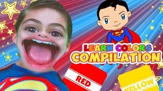 Learn Colors With Superman | WigglePop