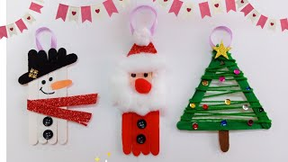 Popsicle Sticks Christmas Ornaments/Popsicle Stick Snowman Santa Christmas Tree/Christmas Decoration