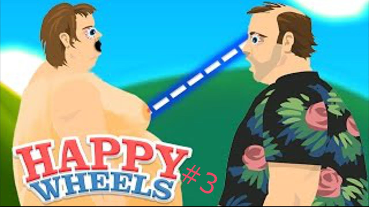 Happy Wheels - NAKED GIRL GLITCH FAIL! - YouTube