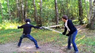 Поединок: меч полуторный против полуторного