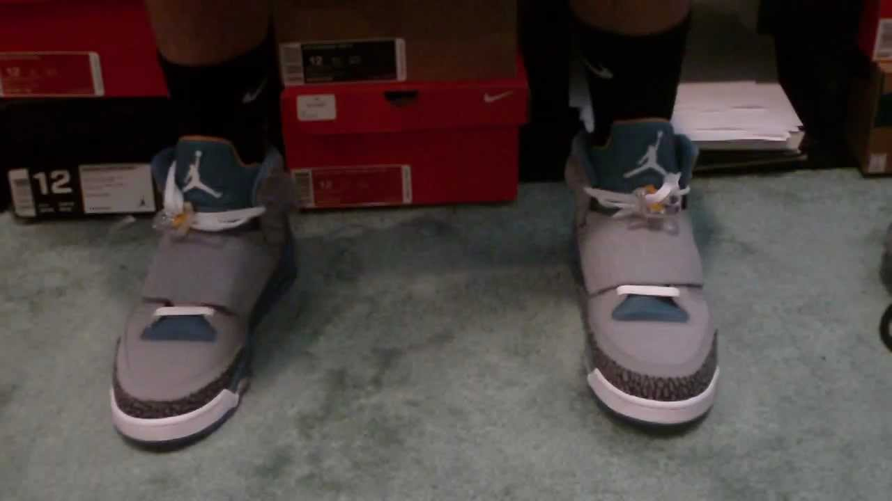 d5ad1d739e4e73 Jordan Son Of Mars (Stealth Blue Colorway) On Feet Review - YouTube