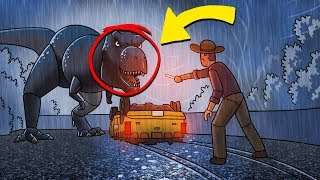 Jurassic Park Movie: Opening the Park! (Roblox Dinosaur Park)