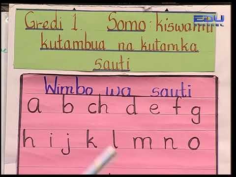 Kiswahili Grade 1   Lesson 1