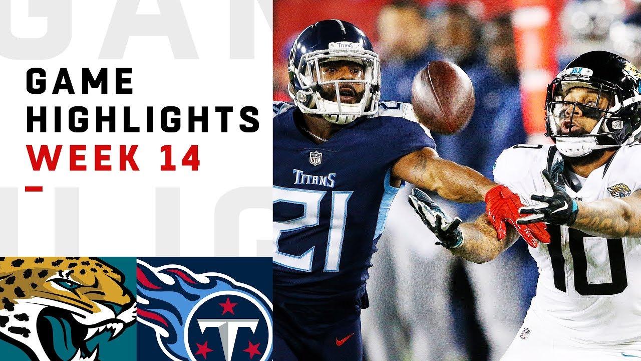 jaguars vs. titans week 14 highlights | nfl 2018 - youtube