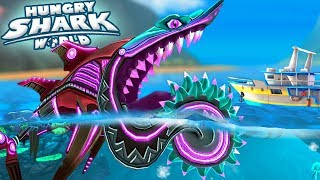 NEW NEON SKIN UNLOCKED - BUZZ (HELICOPRION) || Hungry Shark World [FHD-1080p]