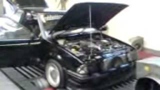 Rolling road map. Fastest XR3 Antilag 1600cvh Turbo oddkidd creations Cosworth managed