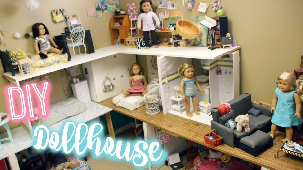How To Make An American Girl Dollhouse Diy American Girl House