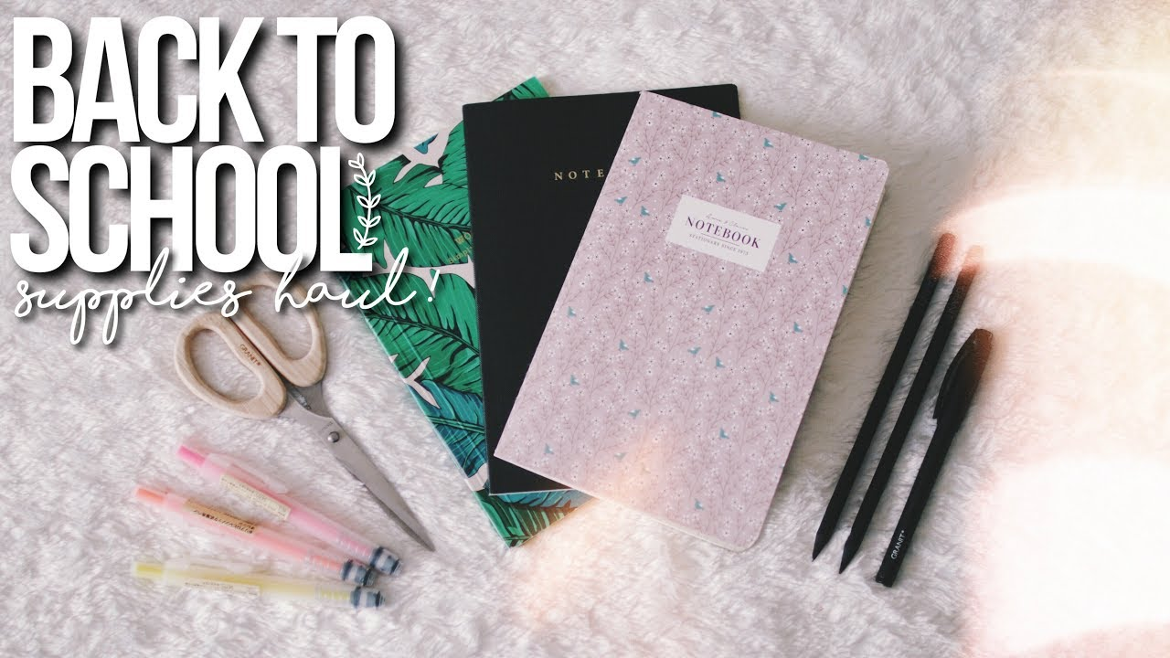 BACK TO SCHOOL SUPPLIES HAUL 2017! (aesthetic + Tumblr