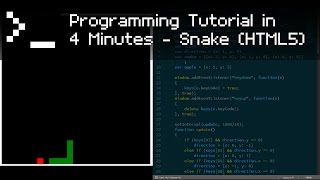 Snake (HTML5) - Programming Tutorial in 4 Minutes