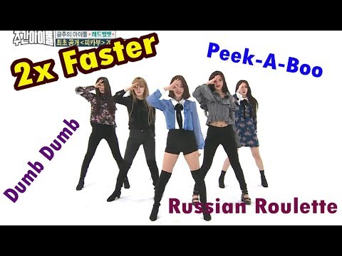 Red Velvet 2X FASTER - Dumb Dumb + Russian Roulette & Peek-A-Boo [WEEKLY IDOL]