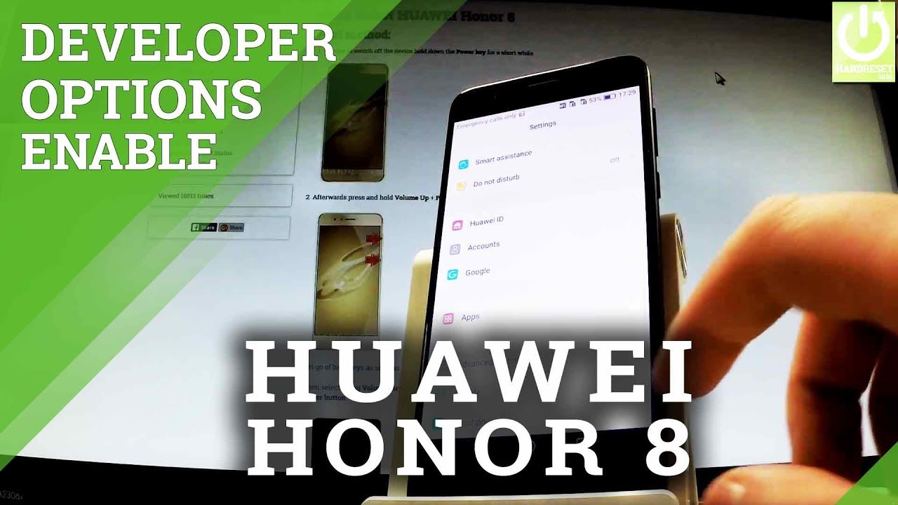 Developer Options in HUAWEI Honor 8 - How to Enable USB Debugging