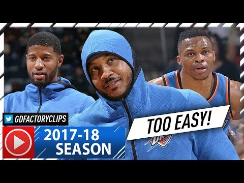 Russell Westbrook, Carmelo Anthony & Paul George BIG 3 Highlights vs Bucks (2017.10.31) - TOO EASY!