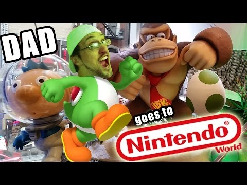 Dad Goes To Nintendo World Pokemon Mario Yoshi - where is the roblox gift card in bronx parkchester