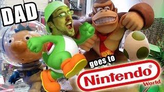 Dad goes to NINTENDO WORLD! Pokemon, Mario, Yoshi, Skylanders, Disney Infinity + More!