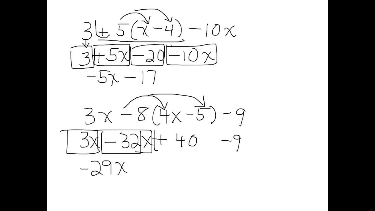 worksheet Simplifying Algebraic Expressions simplifying algebraic expressions containing negative numbers numbers
