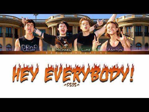 5SOS - Hey Everybody! Live // Color Coded Lyrics