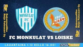 FC Monkulat vs Loiske 1.12.2018 maalikooste