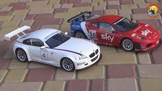 BMW Z4 M COUPE and Ferrari F430 GT радиоуправляемые машины(Игрушка предоставлена интернет магазином