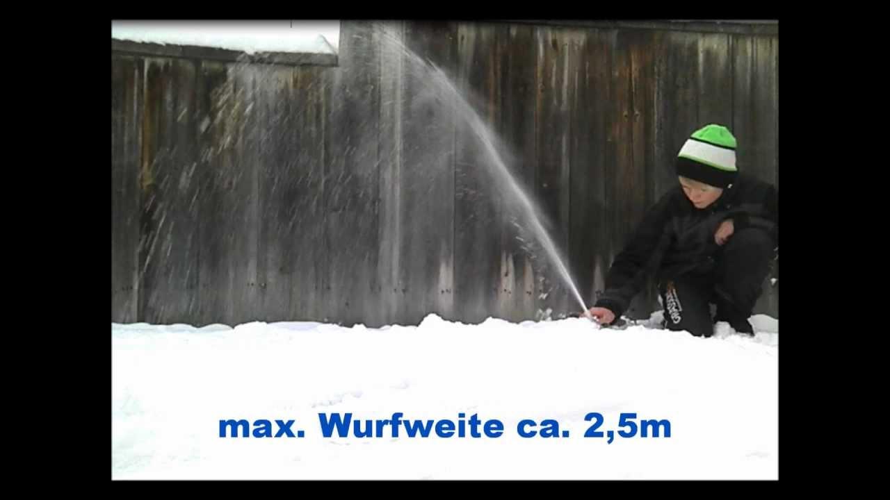 rc schneeschleuder/schneefräse test - youtube