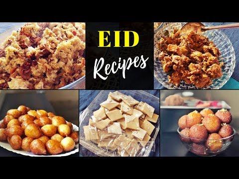 What i prepared for Eid / Gulab Jamun, Kaju Katli, Luqaimat, Malabar Beef Biriyani, Chicken dish