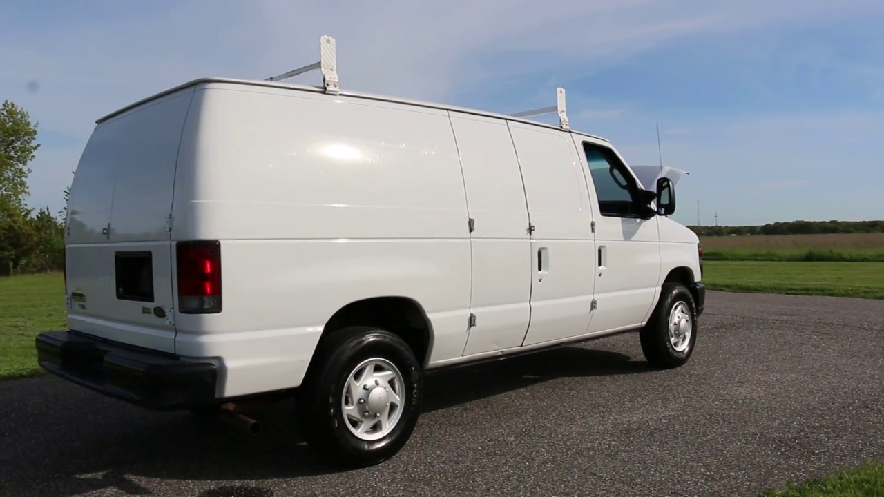 2011 ford e250 econoline cargo van for sale racks divider bins one owner youtube. Black Bedroom Furniture Sets. Home Design Ideas