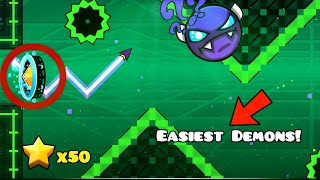 TOP 5 EASIEST NINE CIRCLES DEMONS (2020) | Geometry Dash