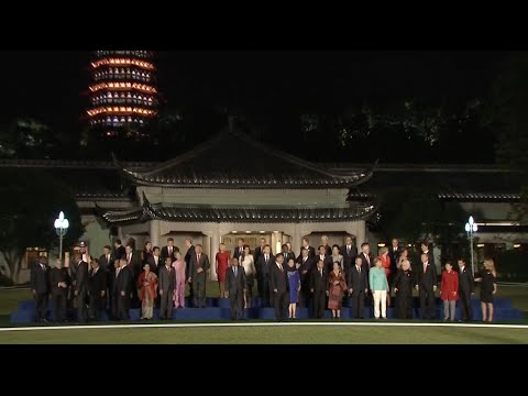 Chinese President Holds Banquet for Leaders Attending G20 Summit in Hangzhou