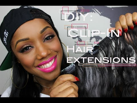 How to make clip in hair extensions ellarie youtube how to make clip in hair extensions ellarie solutioingenieria Image collections