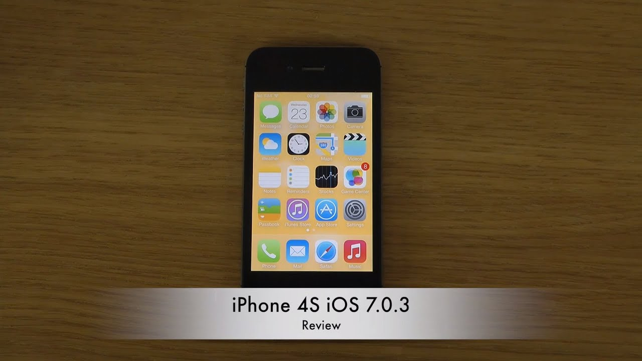 iPhone 4S iOS 7.0.3 - ...
