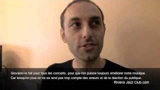 Gianluca Renzi du Trio Mirabassi Renzi Parker par Frédérica Randrianome pour Riviera Jazz Club