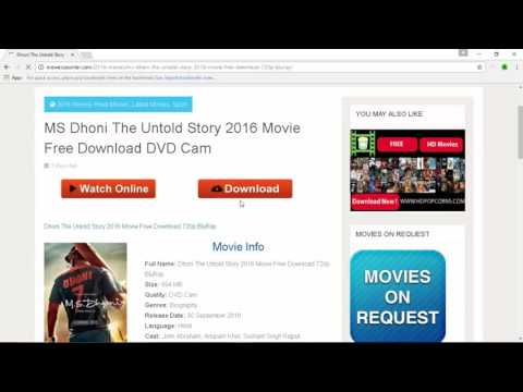 MS DHONI THE UNTOLD STORY FULL MOVIE