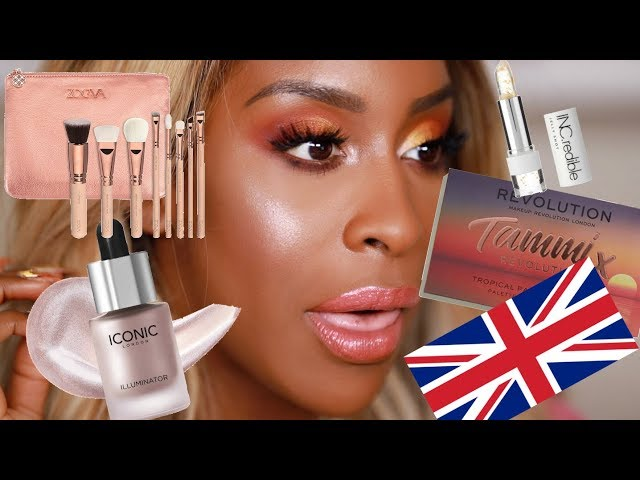 FULL FACE Of Makeup Brands From the UK! | Jackie Aina