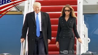 トランプ次期大統領がVIP機(C-32A)で首都ワシントンに到着