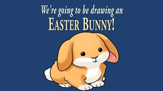 How to Draw a Cute Little Easter Bunny | Easy Drawing | ArtNinja