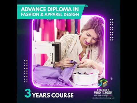 Advance Diploma In Fashion Apparel Design Youtube